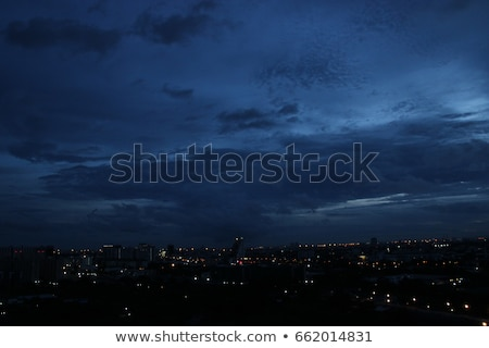 blue cloudy sky night stock photo © ixstudio