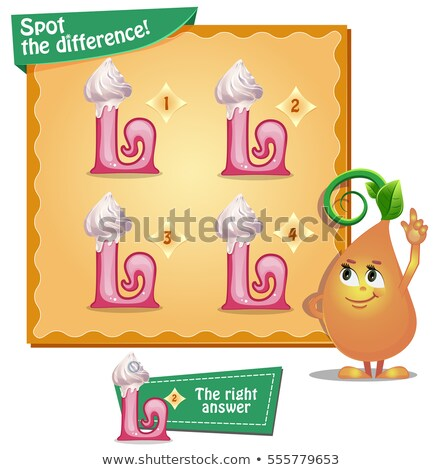 spot the difference letters l stock photo © olena