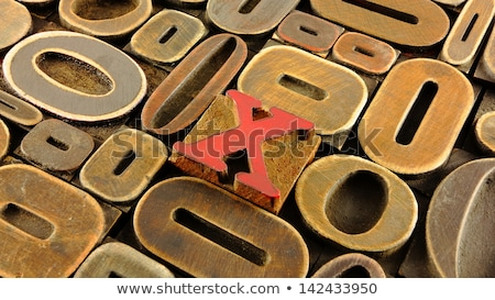Spot the difference letters x Stock photo © Olena
