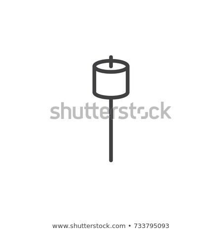 Guimauve ligne icône vecteur isolé blanche Photo stock © RAStudio
