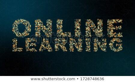 время · вебинар · текста · синий · цифровой - Сток-фото © tashatuvango