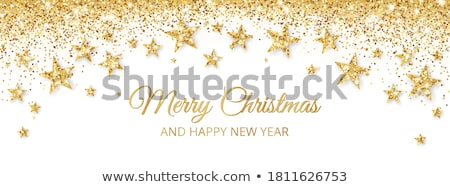 Stock photo: shiny christmas background with golden glitter and confetti