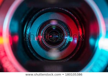 Closeup Digital Camera Lens  with Monitoring. Stock photo © tashatuvango