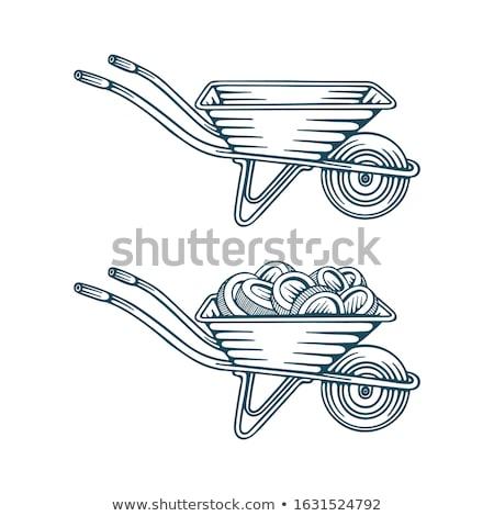 Talicska pénz pénz kert vektor papír Stock fotó © popaukropa