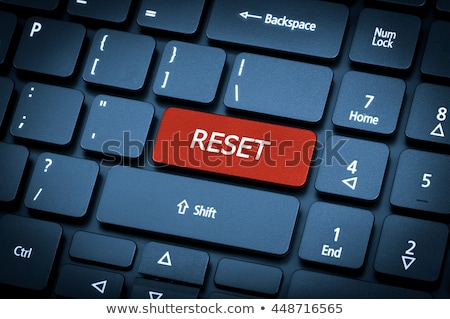 blue reset key on keyboard stock photo © tashatuvango
