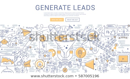Conversion Marketing Technology Concept with Doodle Design. Stock photo © tashatuvango