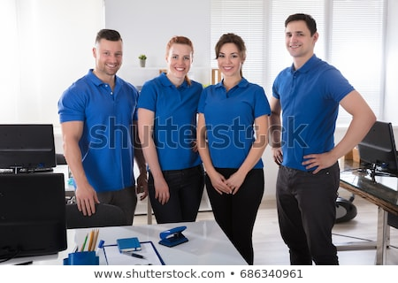 A portrait of a cheering team in uniform Stock photo © IS2