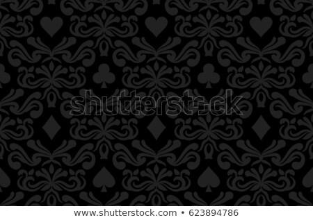 Naadloos zwarte poker symbolen ornament Stockfoto © liliwhite