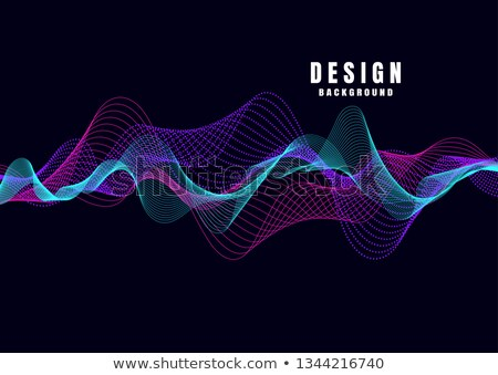 abstract transparent light effect in sound wave style Stock photo © SArts