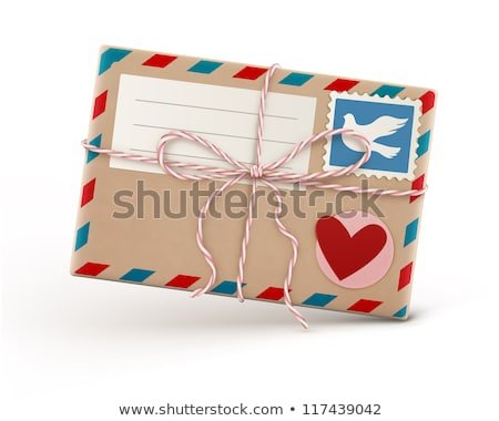 kahverengi · çizgili · zarf · gölge · parça · kâğıt - stok fotoğraf © oblachko
