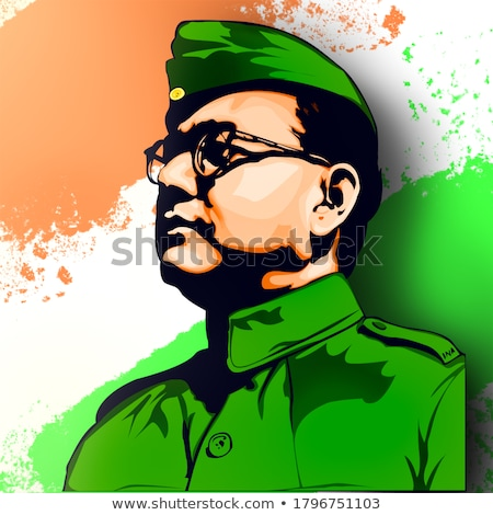 Indian background with Nation Hero and Freedom Fighter Subhash Chandra Bose Pride of India Stock photo © vectomart