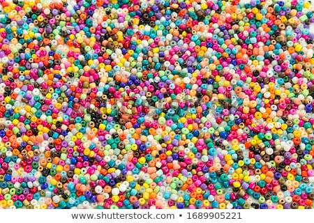 gyöngyök · ékszerek · készít · szervező · tele · színes - stock fotó © fotoyou