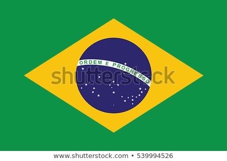 Brezilya bayrak beyaz kalp arka plan yeşil Stok fotoğraf © butenkow