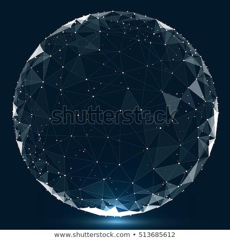 blue circular technology wire mesh vector stock photo © sarts