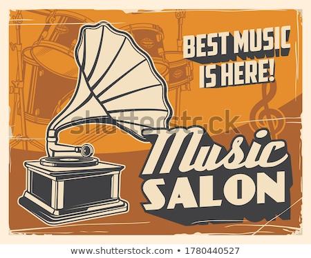 retro dancing gramophone Stock photo © rogistok