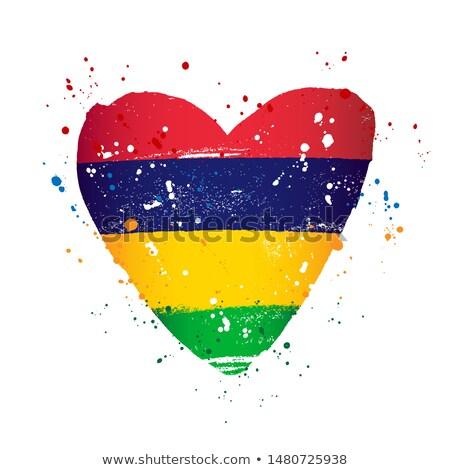Mauritius flag, vector illustration Stock photo © butenkow