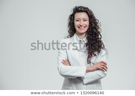 doctor with stethoscope and girl at hospital Stock photo © dolgachov
