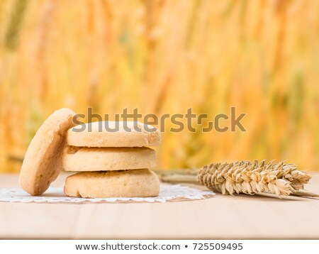 Chocolate and biscuits on a wooden background Stock photo © boggy
