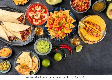 burrito and nacho Stock photo © Studiotrebuchet