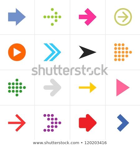 Retro ok ayarlamak stil bağbozumu arayüz Stok fotoğraf © studioworkstock