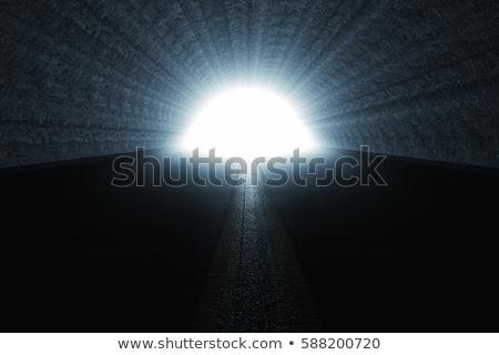 конец · дороги · гравийная · дорога · тротуар · пусто · вертикальный - Сток-фото © dotshock