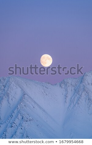 blue moon rising landscape orientation stock photo © suerob