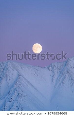 Blue Moon Rising Landscape Orientation Stock photo © suerob