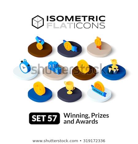 ödüllendirmek izometrik ikon yalıtılmış renk vektör Stok fotoğraf © sidmay