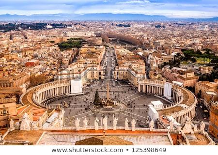 View Città del Vaticano strade tramonto Italia costruzione Foto d'archivio © Givaga