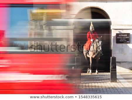 家庭 騎兵 ライディング 通り 馬 兵士 ストックフォト © monkey_business