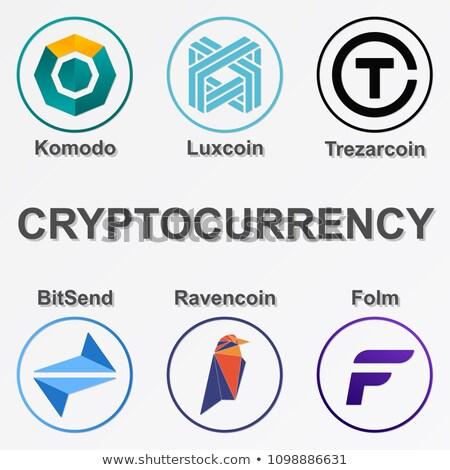 Trezarcoin Digital Currency - Vector Web Icon. Stock photo © tashatuvango