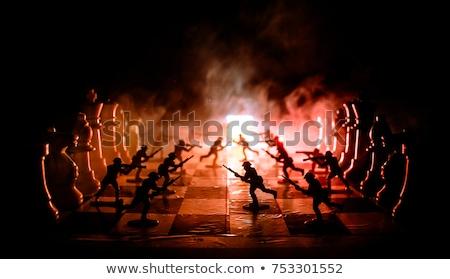 soldaat · silhouetten · ingesteld · gedetailleerd · militaire · leger - stockfoto © krisdog