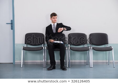 Anxious businessman in waiting room Stock photo © IS2
