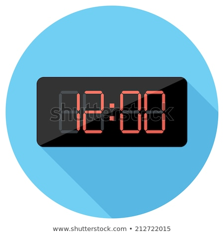 vector illustration countdown timer website element with buttons flat digital clock timer applicati stock photo © zoa-arts