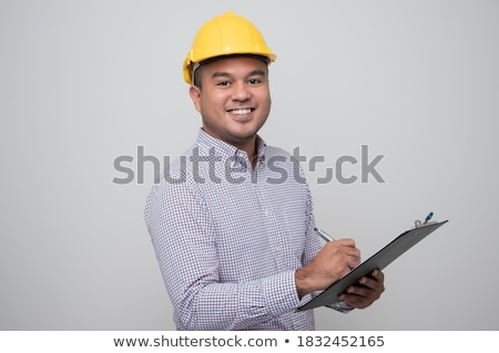 A Civil Engineer on White Background Stock photo © bluering