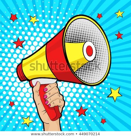 pop art background woman with megaphone Stock photo © studiostoks