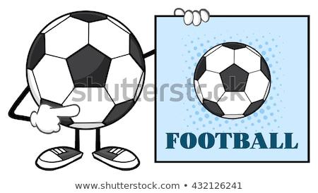 Ballon mascotte dessinée personnage pointant signe texte Photo stock © hittoon