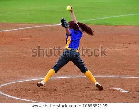 Girl Softball Pitcher Stock photo © 2tun