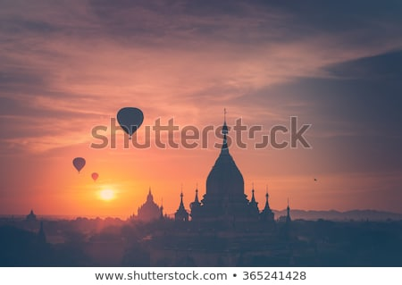 Bagan landscape with Buddhist temples. Stock photo © romitasromala
