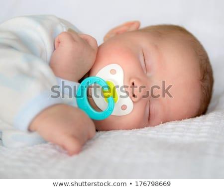 ブロンド 赤ちゃん おしゃぶり 実例 子 ストックフォト © adrenalina