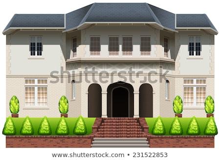 Drawing of a big house stock photo © mayboro1964