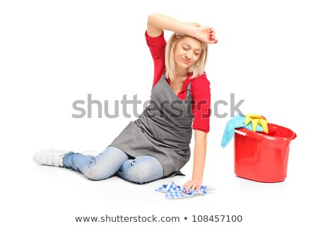 Stock photo: Girl Clean Scrub Floor