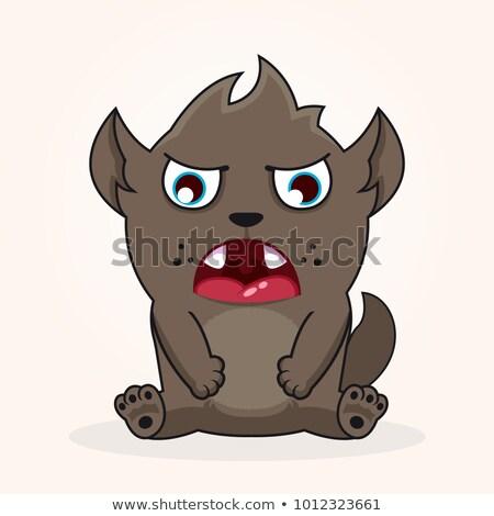 Triste Cartoon diablo ilustración mirando animales Foto stock © cthoman