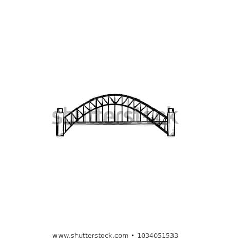 моста · рисованной · болван · икона · архитектура - Сток-фото © rastudio