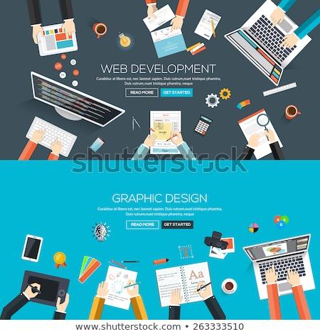 tervez · üzleti · stratégia · háló · oldal · szöveg · vektor - stock fotó © robuart