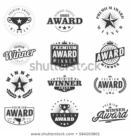 трофей премия чемпион монохромный Логотипы набор Сток-фото © robuart