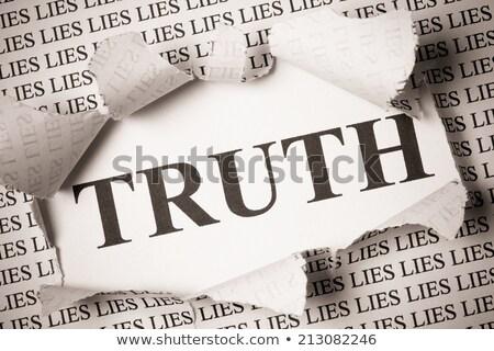 рваной бумаги правда лежать бумаги информации цель Сток-фото © Zerbor
