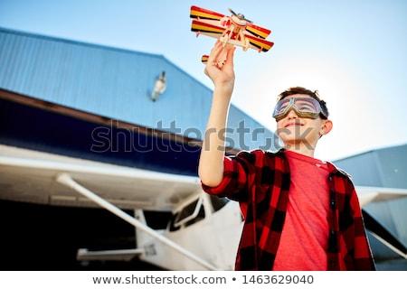 戶外 射擊 小 機 常設 飛機 商業照片 © svetography