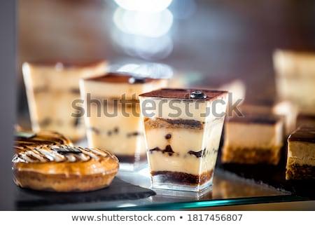 tiramisu · sobremesa · servido · festa · fruto · vidro - foto stock © alex9500