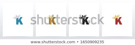 ábécé levél korona király királynő vektor Stock fotó © vector1st